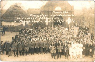 Szynkielów. Historia. Uroczyste wprowadzenie pierwszego proboszcza w dniu 22.10.1931 r